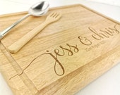 Personalised Name chopping board for couples - Custom Cutting board -  Weddings - Engagment - Anniversary