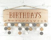 Natural Wood Birthday Board ~ Family & Friends, Birthdays or personalised with the wording of your choice