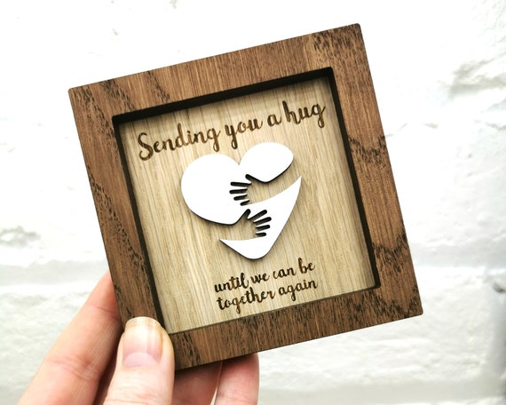 Personalised, Long Distance, Hug gift - Wall art - Mothers Day Gift - Fathers Day Gift - Best Friend - Lockdown pick me up