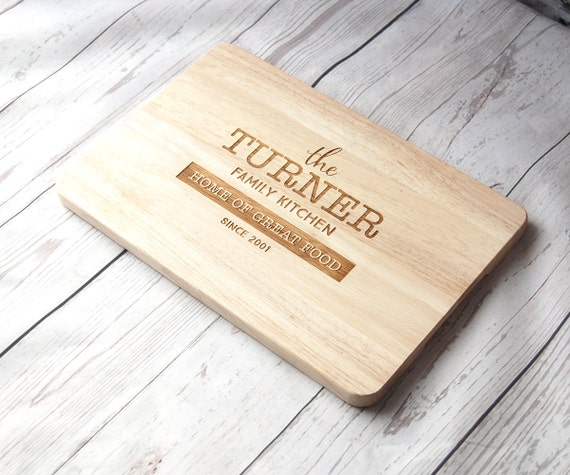 Personalised Family chopping board Custom Cutting board Father's Day Gift  Weddings  House warming Anniversary