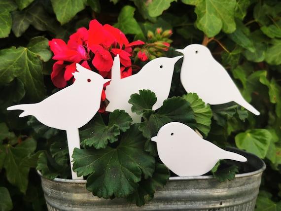Garden Bird Decor, British Bird Garden ornament, Robin, Bluetit, Chaffinch, wren Gift for him gift for her