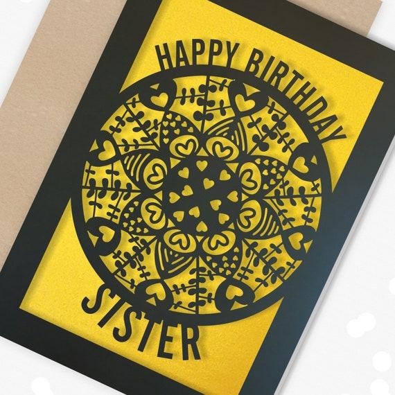 Personalised Sister Birthday Card, Happy Birthday Sister, Sister Birthday, Sister Greeting Card