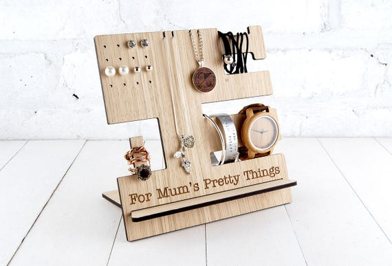 Personalised Jewellery Stand a great multi item storage for Rings, necklace, earrings with FREE personalisation