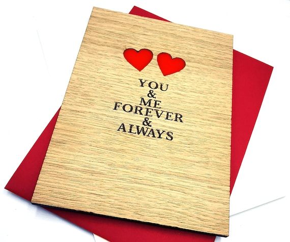 Valentines Day personalised wooden card, for all you lovely lovers out there! Free personalised message on the reverse