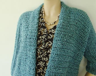 Cardigans, Crochet Cardigan, Cardigan Women, Sea Green Cardigan, Gift for Her, Mom Gift, Grandma Gift, Available in S/M, L/XL and 1X/2X