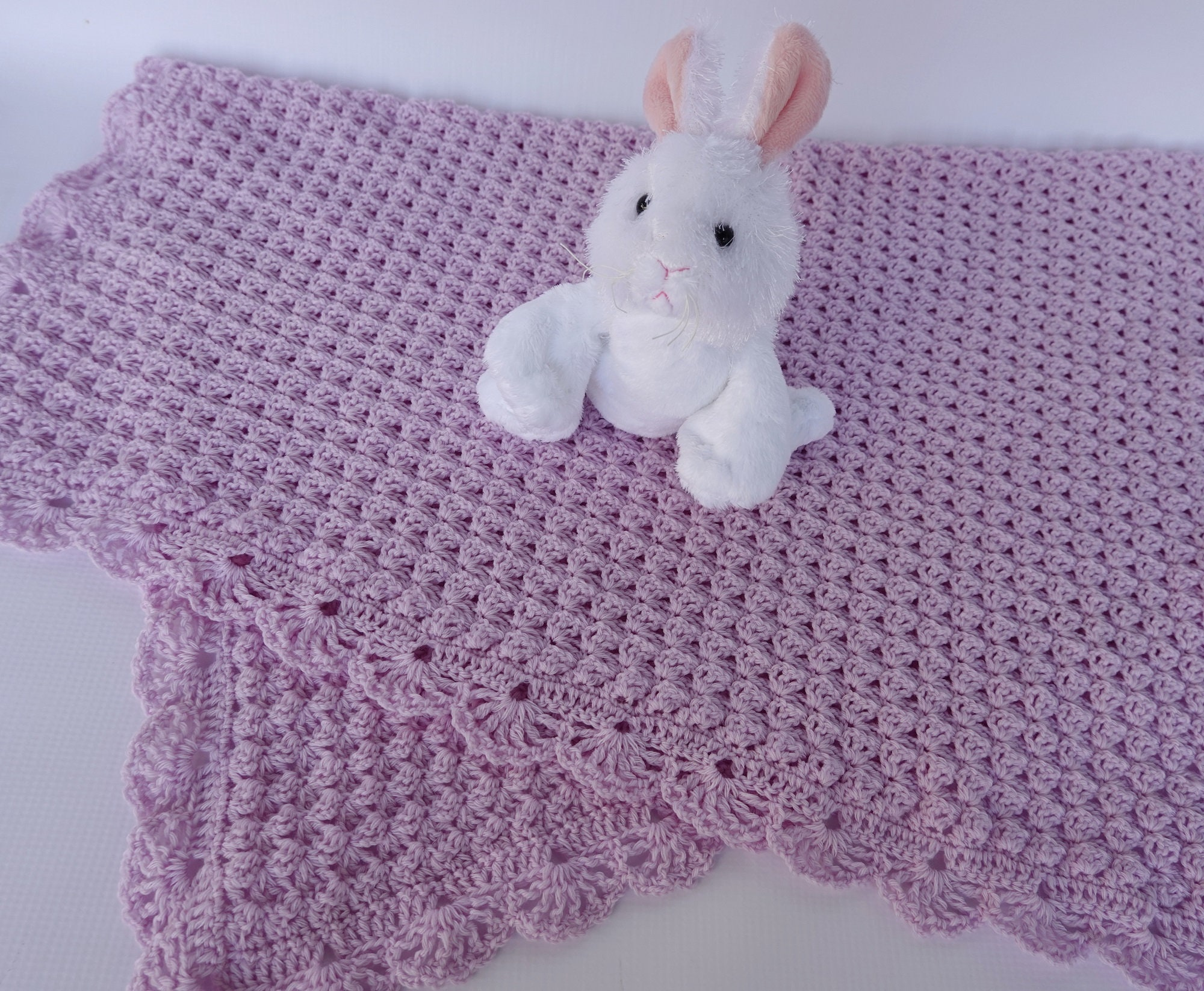 Crochet Baby Blanket, Blanket Merino Wool, Lilac Baby Blanket, Merino Wool Baby Blanket, Newborn Baby Blanket, Baby Gift, Christening Gift