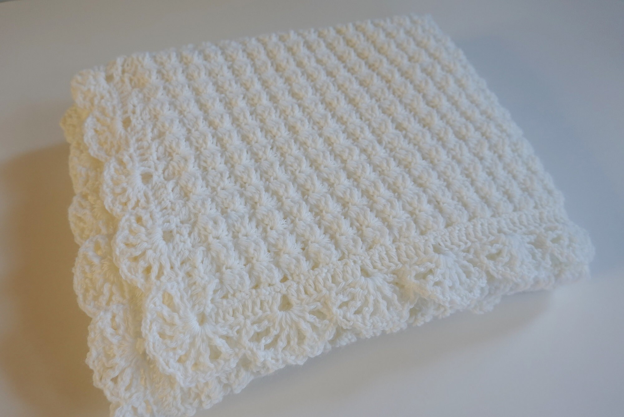 Crochet Baby Blanket, Blanket Merino Wool, Baby Blanket White, Baby Blue Baby Blanket, Newborn Baby Blanket, Baby Gift, Christening Gift
