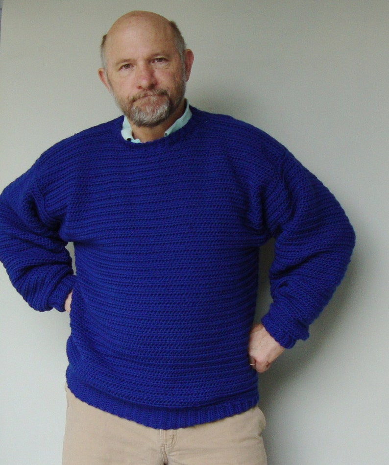 e939be196 Sweater Men Sweaters for Men Blue Sweater Wool Sweater | Etsy