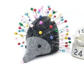 Pincushion, Hedgehog, upcycled wool, handmade, Aspen Bayberry