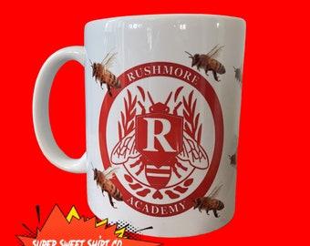 Rushmore Academy Mug, Bee Keepers Mug, Ceramic Handled Mug, Wes Anderson Gift, Bill Murray Mug, Coffee Mug, birthday Gift, Wes Anderson Mug
