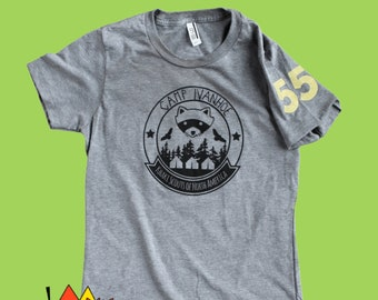 Camp Ivanhoe Shirt, Moonrise Kingdom Shirt, Khaki Scout T-Shirt, funny t shirts for women, cool gifts for gf, Wes Anderson, bill murray,