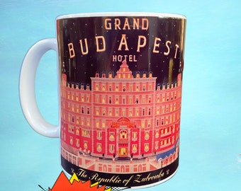 Grand Budapest Hotel Mug, Society of Crossed Keys, Coffee gift, Wes Anderson movie, Wes Anderson, gift for her, coffee cup, Bill Murray