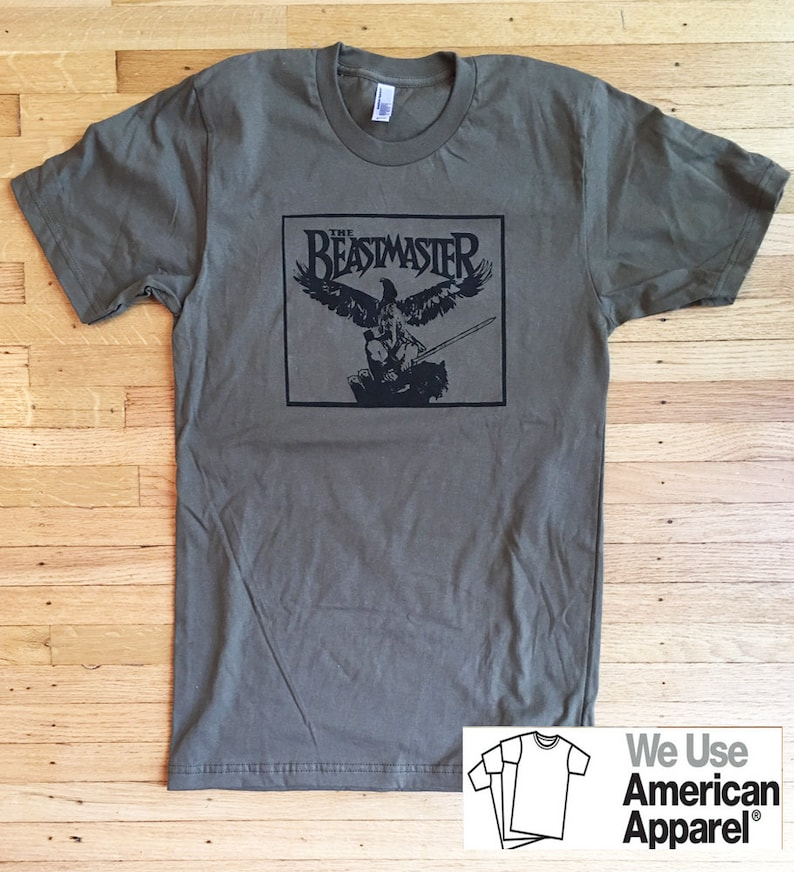 acc429e1263 Beastmaster T-Shirt One of a Kind All Sizes American Apparel