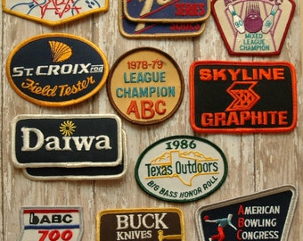 Bowling Patch Buck Knives Daiwa ABC 700 300 Retro Mid Century Modern Industrial Redneck Mens Man Cave Gift Ambient Atelier Antique Dealer
