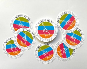 Strive to be LDS Youth stickers - set of 8, 16, 24, 32, 40, 48