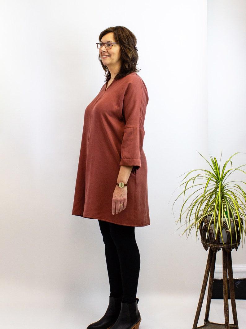 Paprika Black Sustainable fashion Ingi Dress Holiday style Tencel twill Made in Canada
