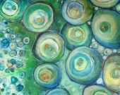 The Edge of the Deep Green Sea, Fine Art Giclee Print 11 x 14