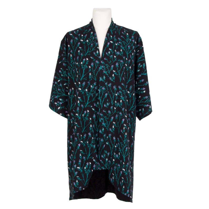 0cc416ff50 Kimono Silk Kimono Emerald Berry Floral Kimono Raw