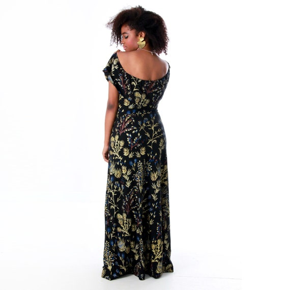 a98f88425a Maxi Dress Off the Shoulder Flutter Top Organic Cotton | Etsy