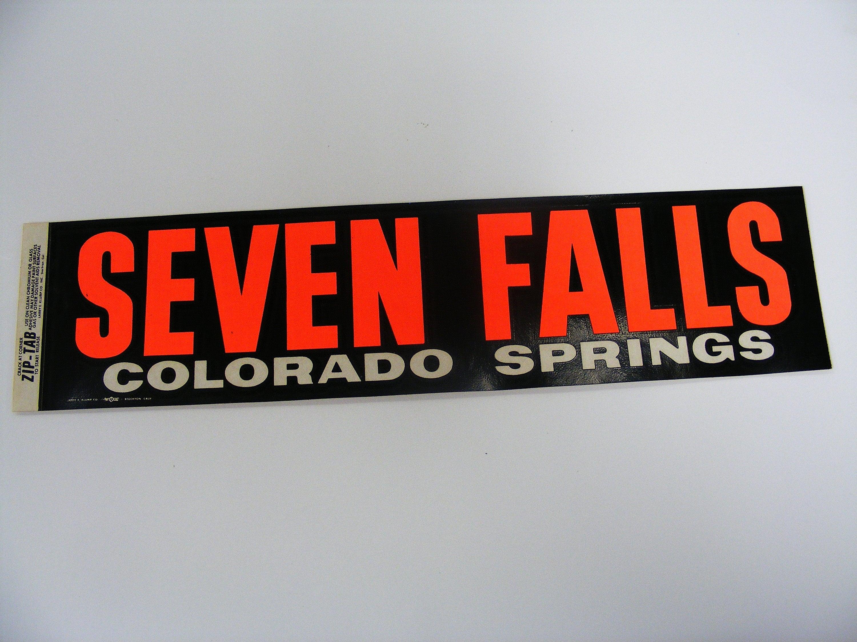 Seven Falls Colorado Springs Vintage Bumper Sticker black | Etsy