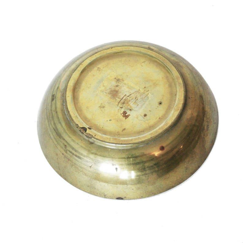 Vintage Cigar Label Glass /& Brass Ashtray Souvenier Smoking Accessory Tobbaciana   AS177