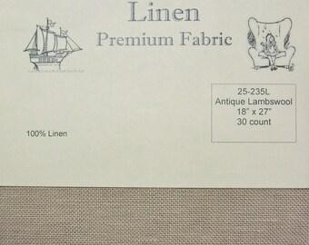 90deef29c8f Wichelt Permin 100% Linen Antique Lambswool 30 Ct 18