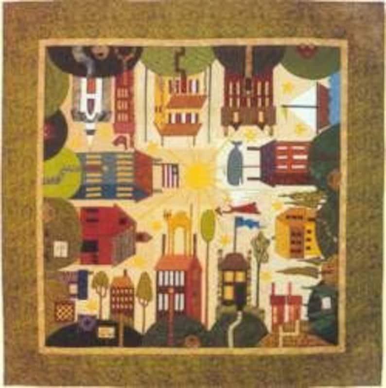 Around Town House Applique BOM Come Quilt Sue Garmen 12 Patterns Set