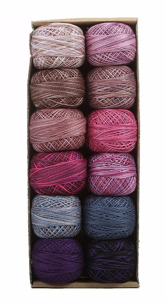 Valdani Perle coton taille 12 fil broderie fil 12 Accents 3 Splash violet Sampler 012794