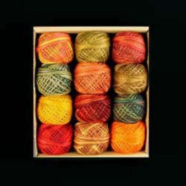 Valdani 3 brins coton soie broderie Punch aiguille fil fabuleux fabuleux fil automne ensemble 217f6e