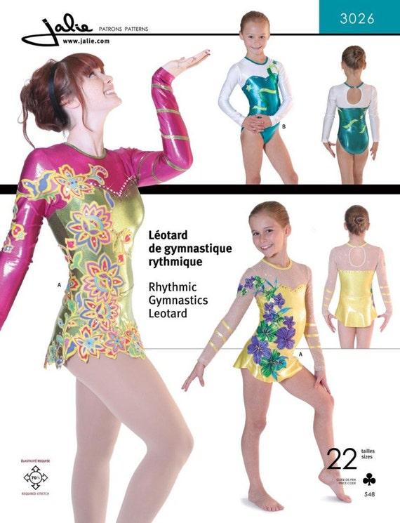 Vestido de leotardo de gimnasia rítmica Jalie girando patrón | Etsy