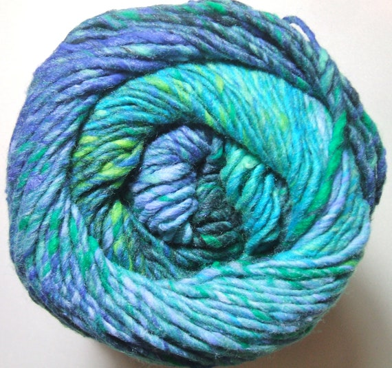 Knitting Fever Painted Sky Yarn #222 Gold Finding Superwash Wool Self Striping