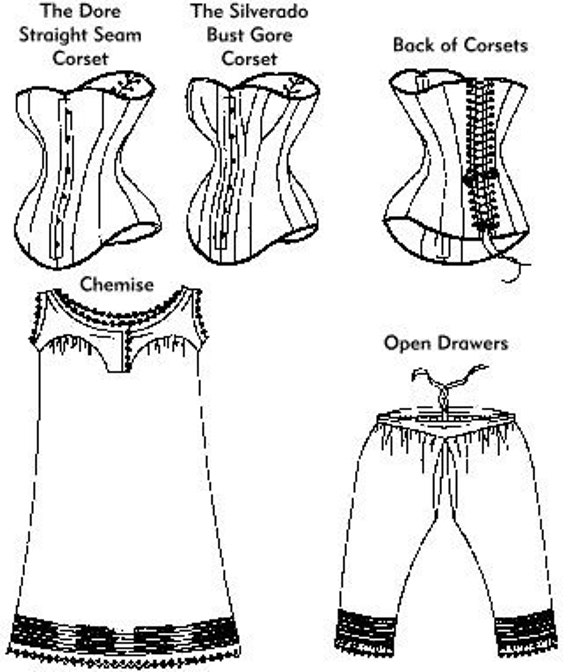 Victorian Corset Drawers /& Chemise Underwear Laughing Moon Sewing Pattern # 100