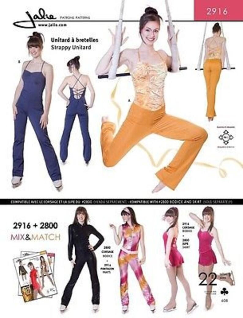 11e899e18dac Jalie Strappy Unitard Gymnastics Exercise Costume Sewing | Etsy