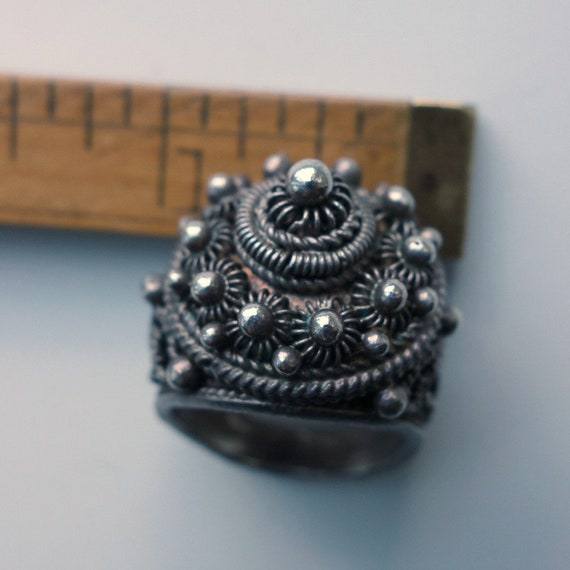 Ottoman Silver Ring Exceptional