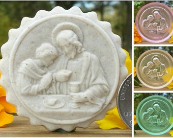 221 Clear Tinted Eucharist Cookie Mold - Springerle Mold - Marzipan Mold - Butter Mints Mold - Ornament Mold - Religious Mold - Clear Mold