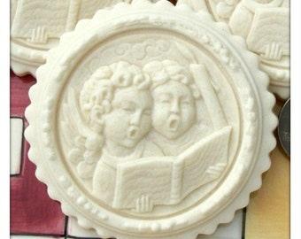 75 Angelic Carolers Cookie Mold - Springerle Mold - Marzipan Mold - Angel Mold - Paper Casting Mold - Religious Mold - Carolers Mold