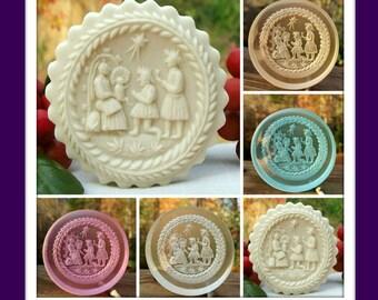 2388 Clear Tinted Teisendorf  Nativity Scene Cookie Mold - Springerle Mold - Marzipan Mold - Nativity Mold - Christmas Mold - Religious Mold