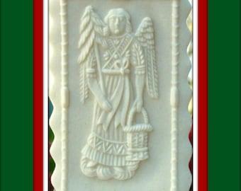 478 TINY Cologne Angel Mold - Springerle Mold - Marzipan Mold - Angel Mold - Religious Mold - Christmas Mold - Ornament Mold - Cookie Mold