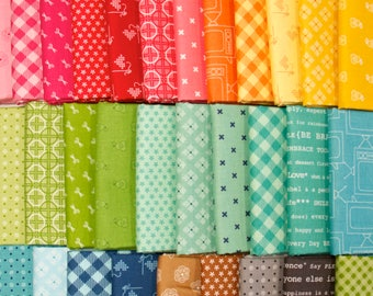 Bee Basics - Fat Quarter Fabric Bundle by Lori Holt - 31 prints