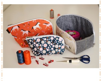 Open Out Box Pouch Pattern by Aneela Hoey (Paper Pattern)