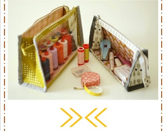 Boxy Clear Pouch Pattern by Aneela Hoey (Paper Pattern)
