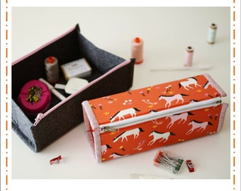 Zip Up Tray Pouch Pattern by Aneela Hoey (Paper Pattern)