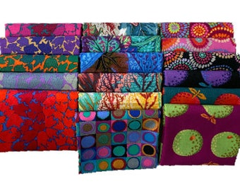 Kaffe Fassett colectivo círculos mosaico de tela del edredón Negro 100/% algodón Bty