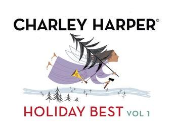 Preorder: Charlie Harper Holiday Best Vol. 1  - Organic Fat Quarter Bundle 14 Prints 6 Solids - 20 Pieces