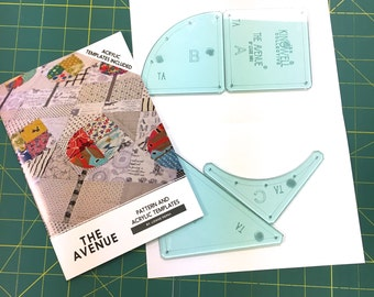 The Avenue Pattern and Acrylic Template Set by Louise Papas