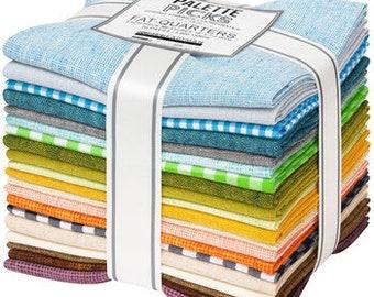 Spring Shimmer Coordinates Fat Quarter Bundle by Jennifer Sampou - 20 Prints by Robert Kaufman
