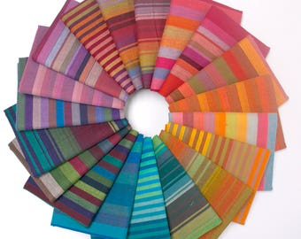 Kaffe Fassett - Woven Stripes - Fat Quarter Fabric Bundle - 19 woven stripes