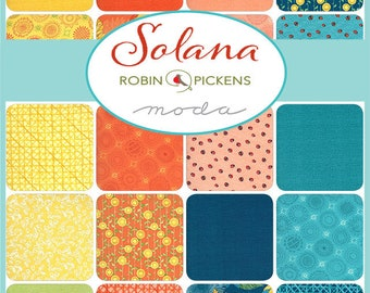 Solana by Robin Pickens for Moda Fat Quarter Bundle (30 Pieces - Panels Sold Separately)
