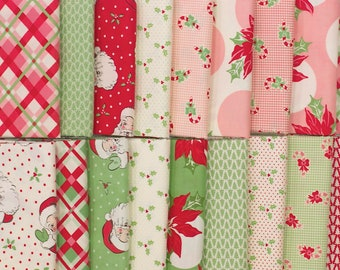 Swell Christmas - Fat Quarter Bundle - by Urban Chiks for Moda (18 pieces)