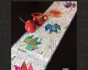 Pressed Leaves Table Runner by Stash Lab Quilts